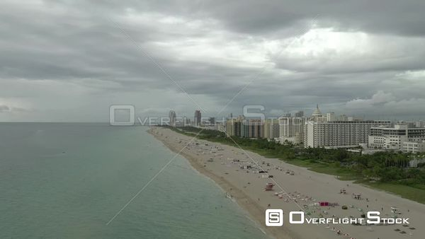Winter scene Miami Beach overcast clouds 4k 60p