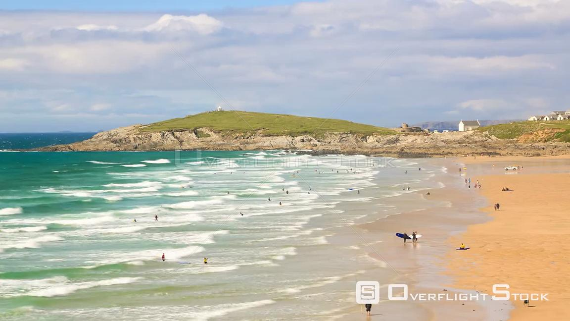 Beach time lapse clip in Cornwall, UK