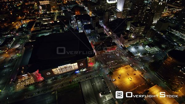 New Jersey Newark Aerial Sports Arena Birdseye Downtown Night