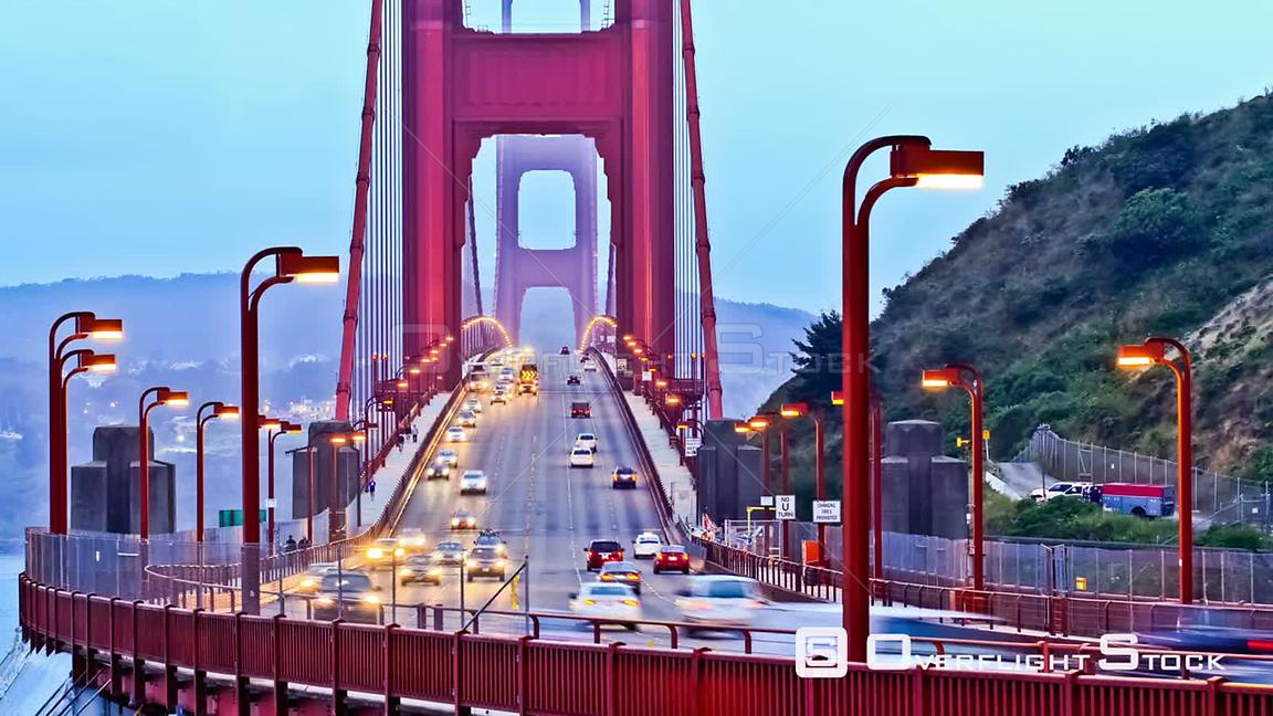 Golden Gate bridge time lapse San Francisco California