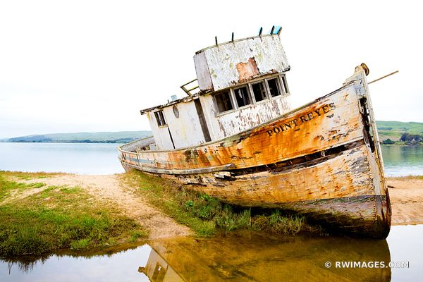 POINT REYES FISH BOAT WRECK TOMALES BAY POINT REYES NATIONAL SEASHORE CALIFORNIA