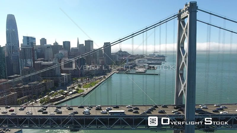 Drone Video Bay Bridge San Francisco California