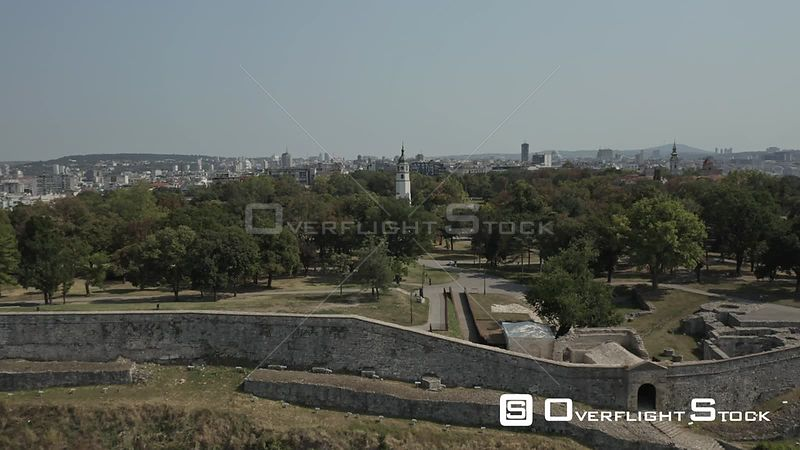 Drone Video Belgrade Fortress Serbia