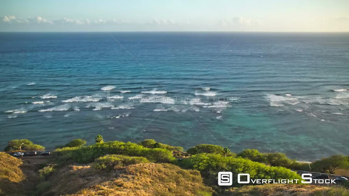 Beach time lapse clip of coastline in Oahu near Waikiki. Hawaii