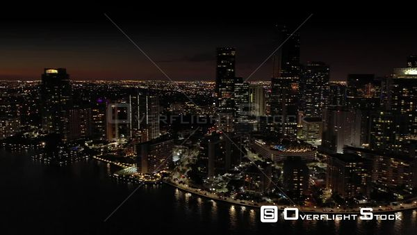 Night Footage Brickell Miami on the Bay