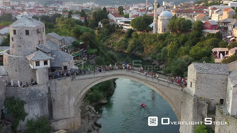 Old Bridge in Mostar, Bosnia and Herzegovina 21.08.2019.
