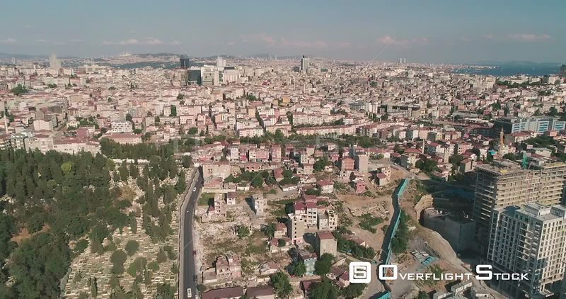 Aerial View Istanbul Cityscape Turkey