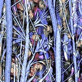 Qualia's Blue Meadow Stained Glass Detail