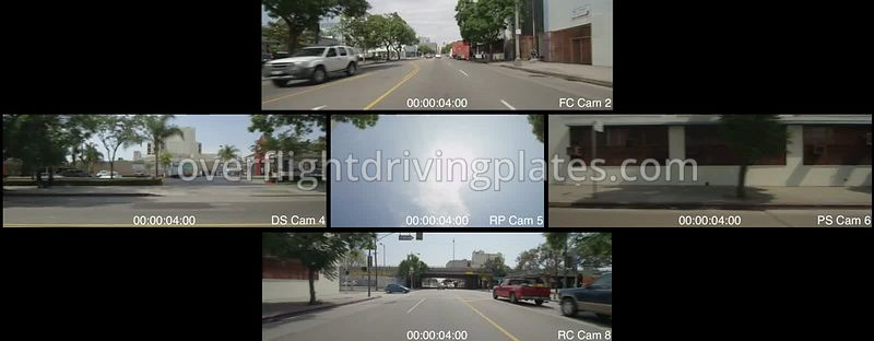 South Broadway Pico Street  Los Angeles California USA - Driving Plate Preview 2012