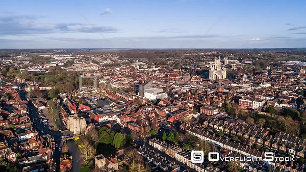 Drone Video of Canterbury Cathedral England
