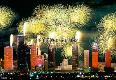 Houston City Fireworks