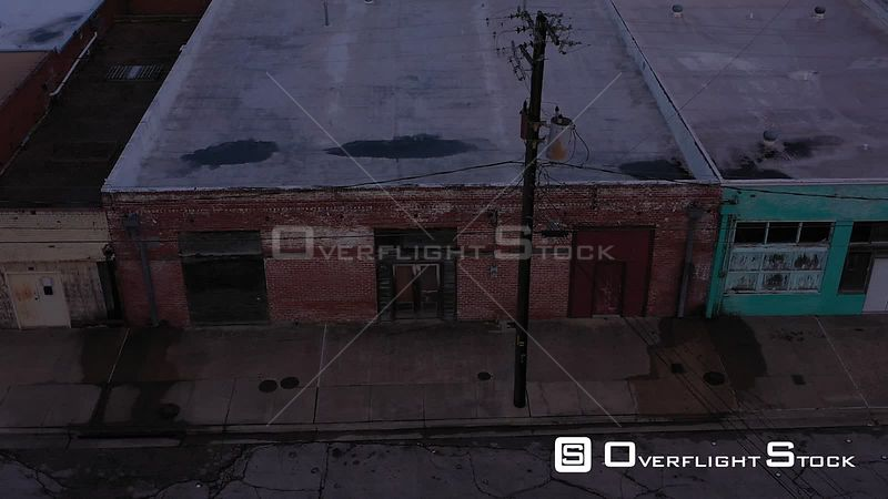 Empty Brick Building, Boarded Up, Bryan, Texas, USA