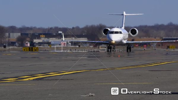 Business Jet Taxiing Teterboro Airport