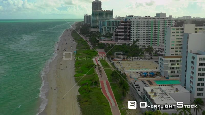 Aerial video of the Atlantic Greenway Miami Beach 2019