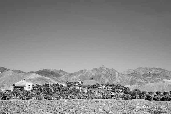 FURNACE CREEK OASIS DEATH VALLEY CALIFORNIA BLACK AND WHITE