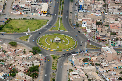 Traffic Circle Chimbote Ancash Region Peru