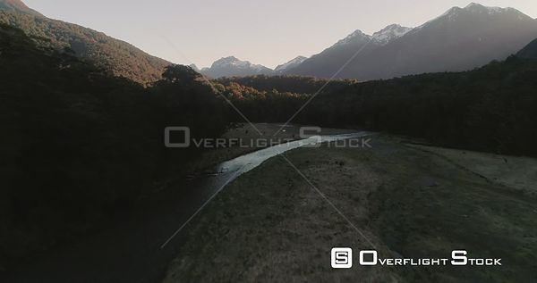 Fiordland National Park New Zealand Sunset in the Valley