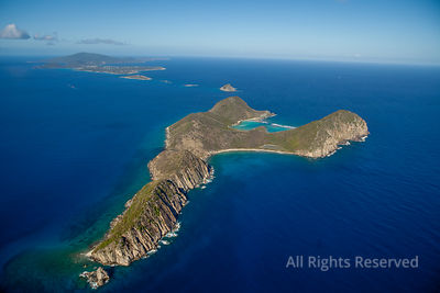 Ginger Island and Wedged Bay. British Virgin Islands Caribbean