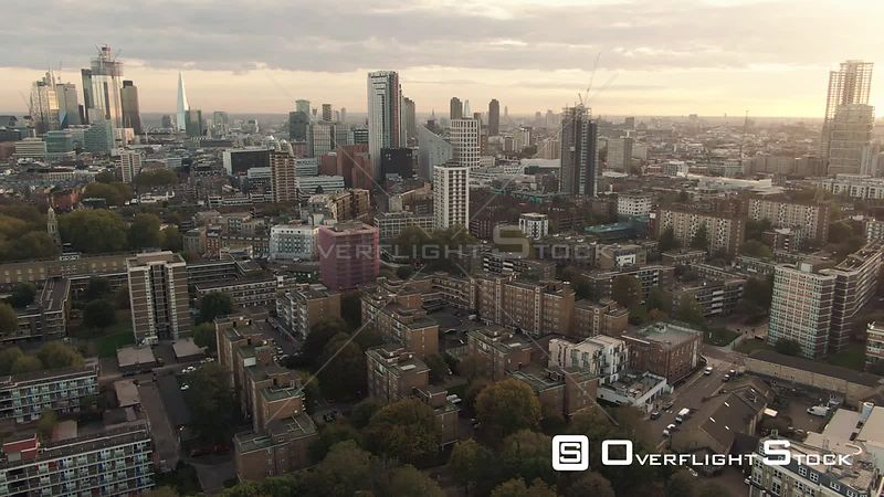 The Skyline of the City of London from the North England