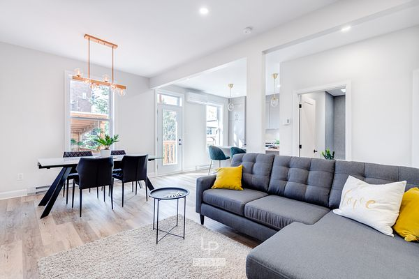 Renovated light and airy condo with nice designed living room