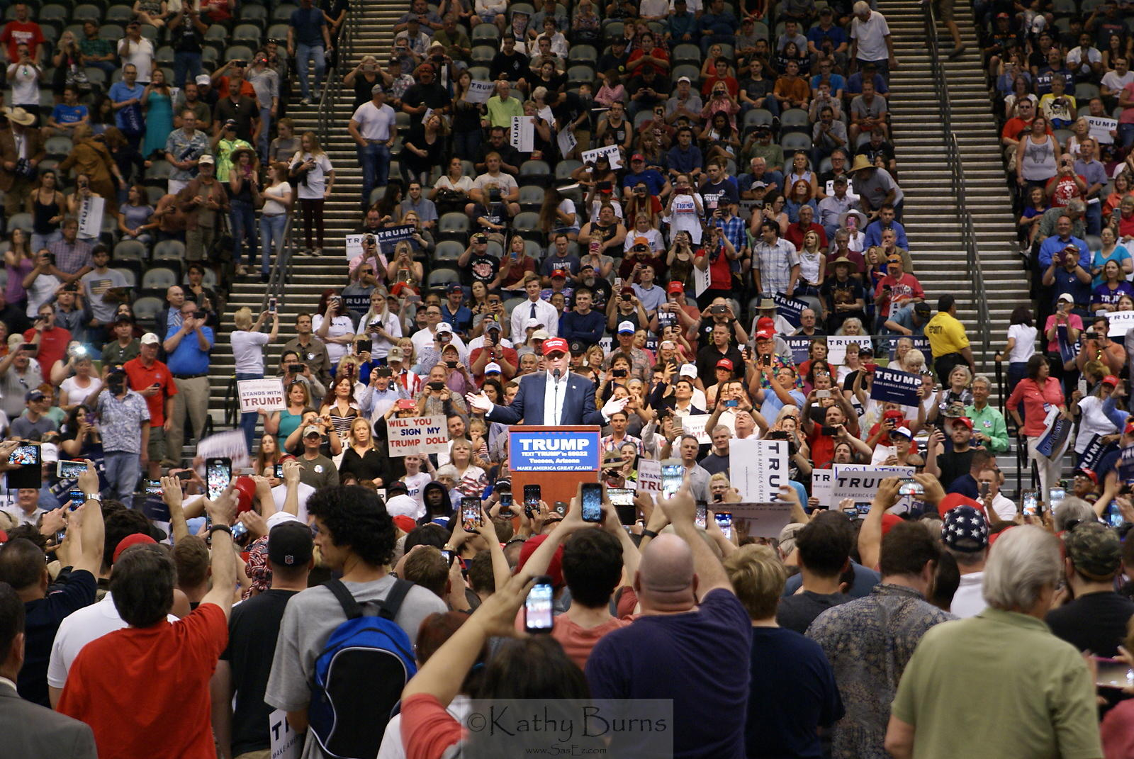 Donald Trump Presidential Campaign Rally, Tucson AZ USA