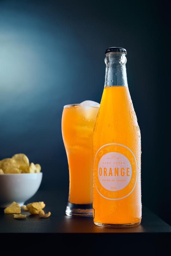 Montreal food photographer, commercial photography, Beverage, Boylan orange soda