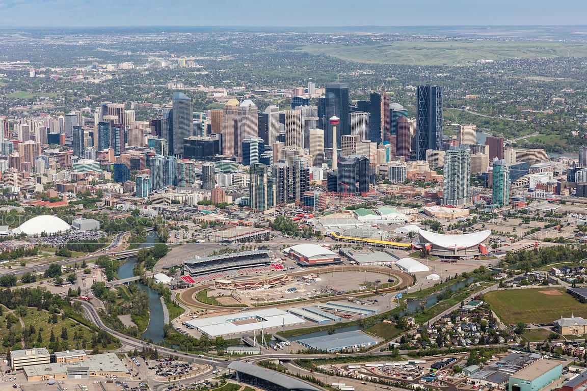 Downtown Calgary and the Stampede Grounds