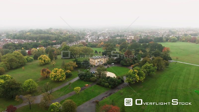 Park With Victorian Village in South London England