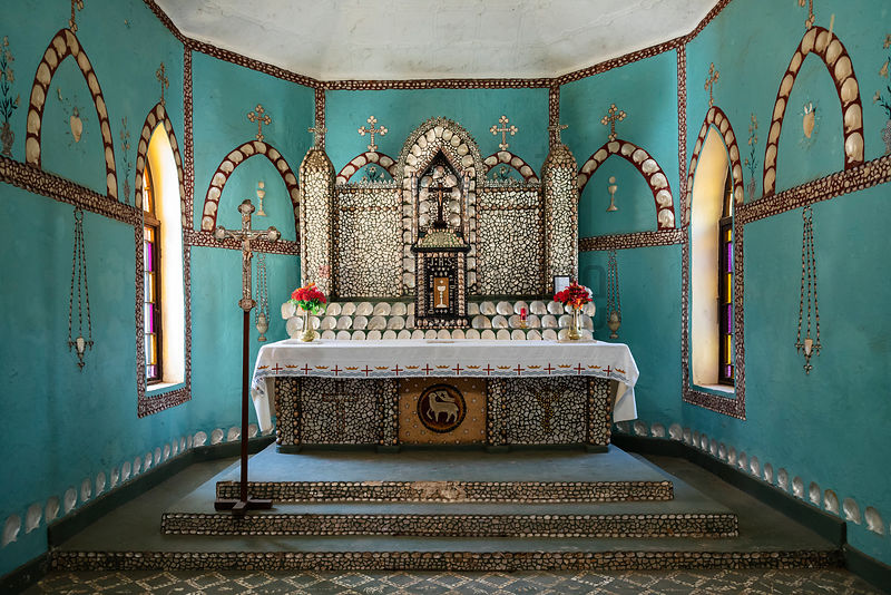 Shell Altar of the Sacred Heart Church
