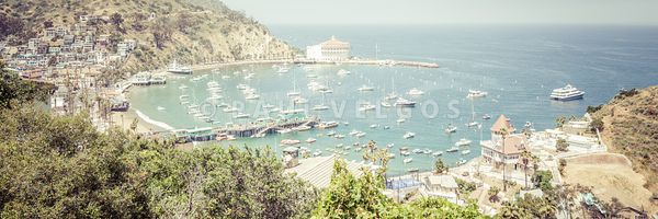 Santa Catalina Island Avalon Bay Panorama Picture