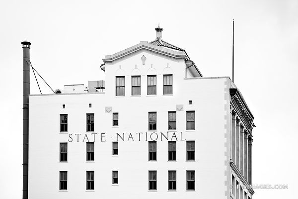 HISTORIC DISTRICT HOUSTON TEXAS ARCHITECTURE  BLACK AND WHITE