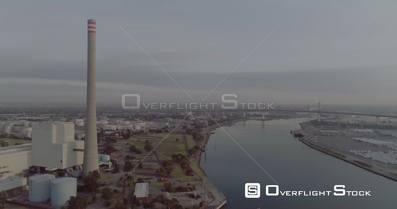 Williamstown Chimney Drone Video Melbourne Australia