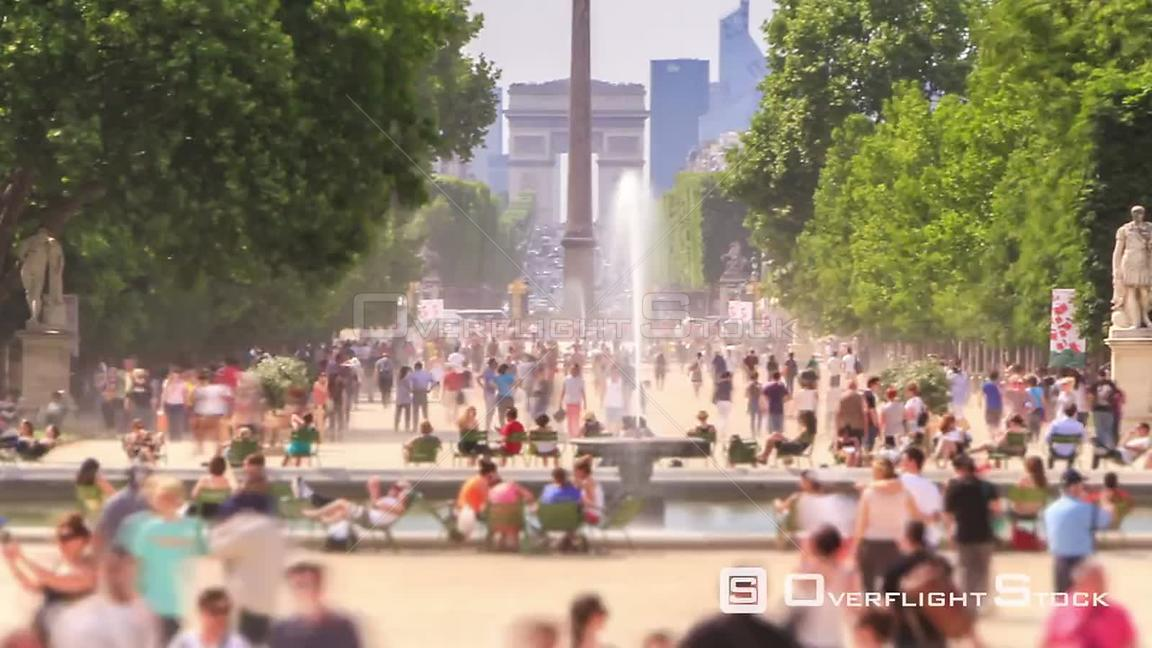 Pedestrian traffic time lapse in Paris France