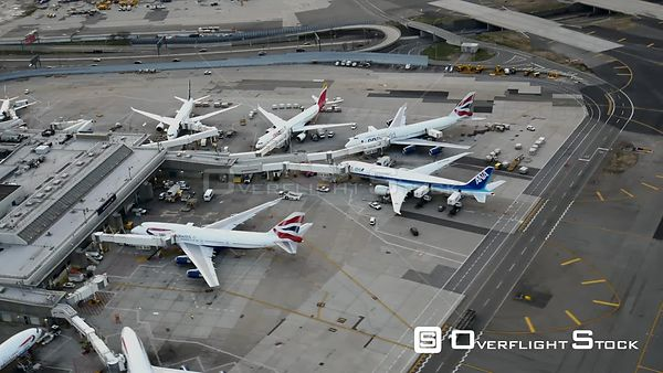 Overflight the British Airways Terminal at JFK Airport