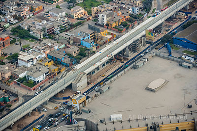 Elevated Commuter Rail Construction Capital City Lima Peru
