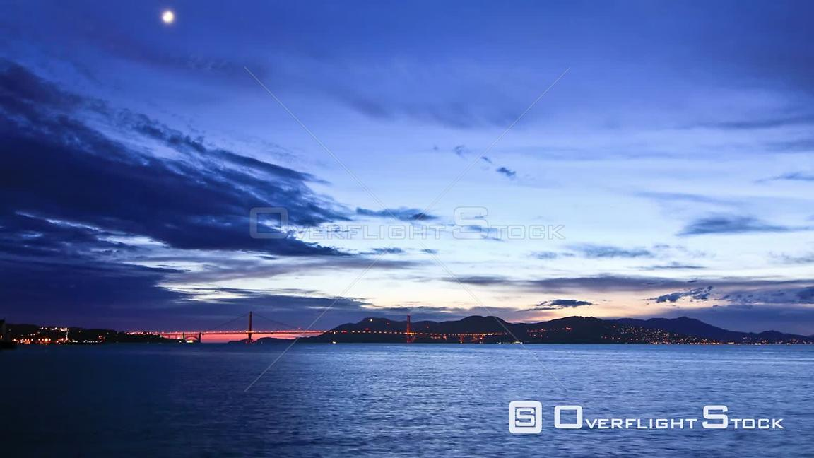 San Francisco California USA San Francisco Bay time lapse clip right after sunset.